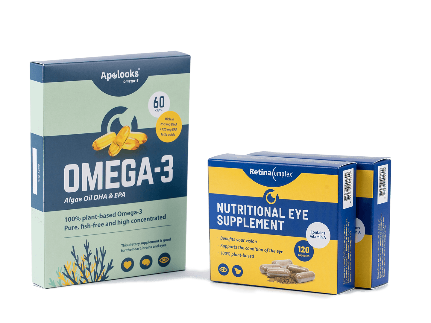 Combideals - Retinacomplex® & Apolooks® Omega-3 Algae oil - Bundle Discounts