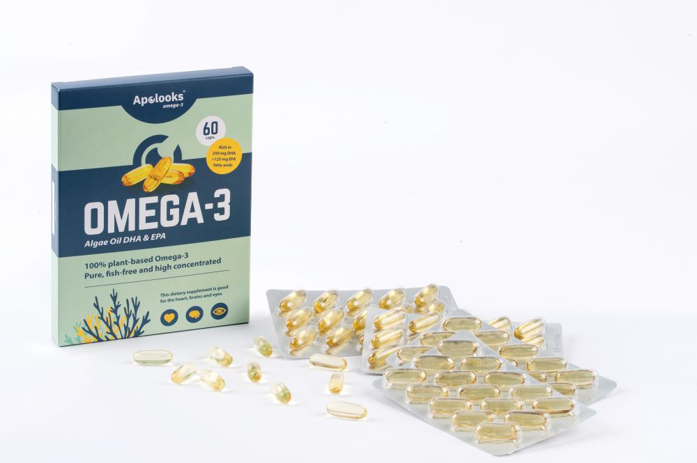 Omega-3 Algae oil (EPA&DHA) - DHA for the eyes - 60 capsules - Vegan