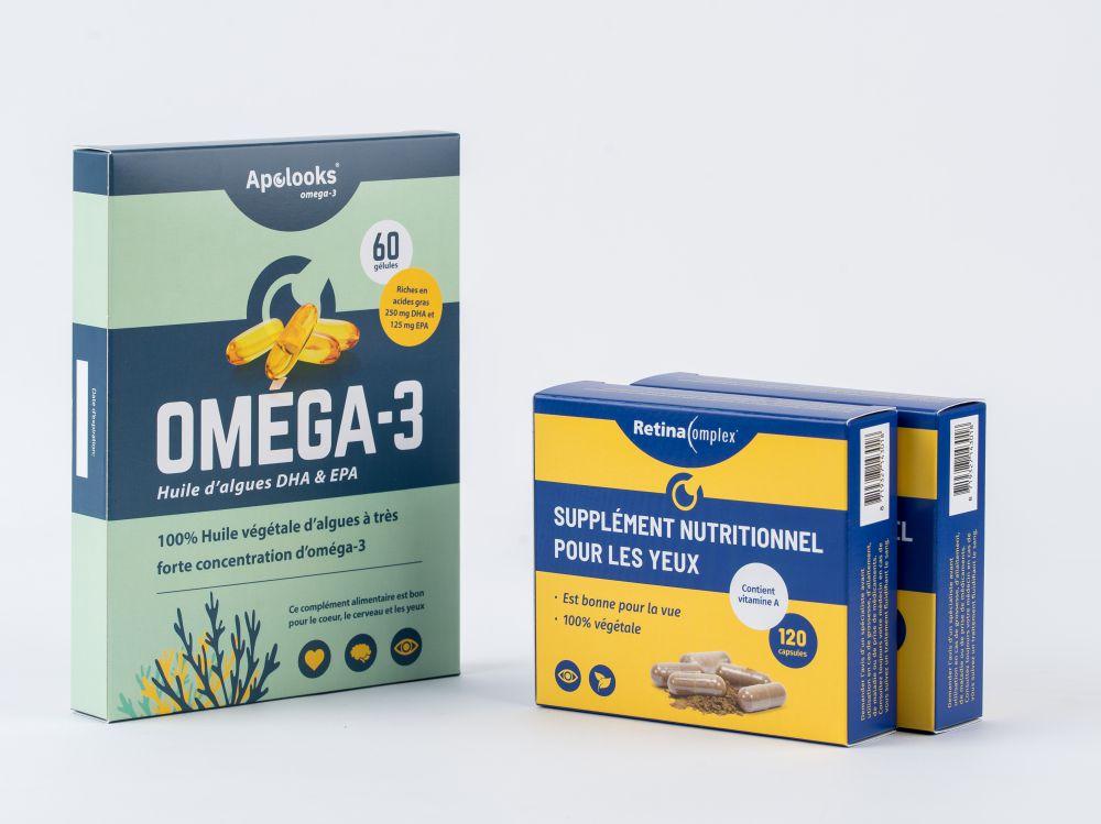 Retinacomplex® et Huile d'algues Oméga-3 (EPA&DHA) - Réductions groupées