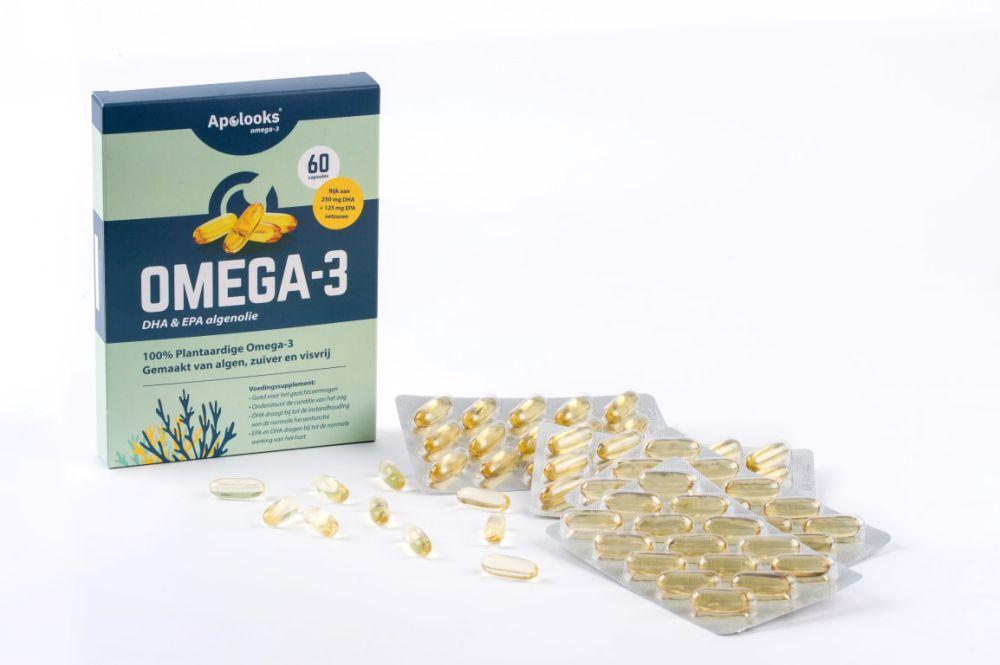 Apolooks® Omega-3 Algenolie - DHA voor de ogen - 60 capsules - Vegan