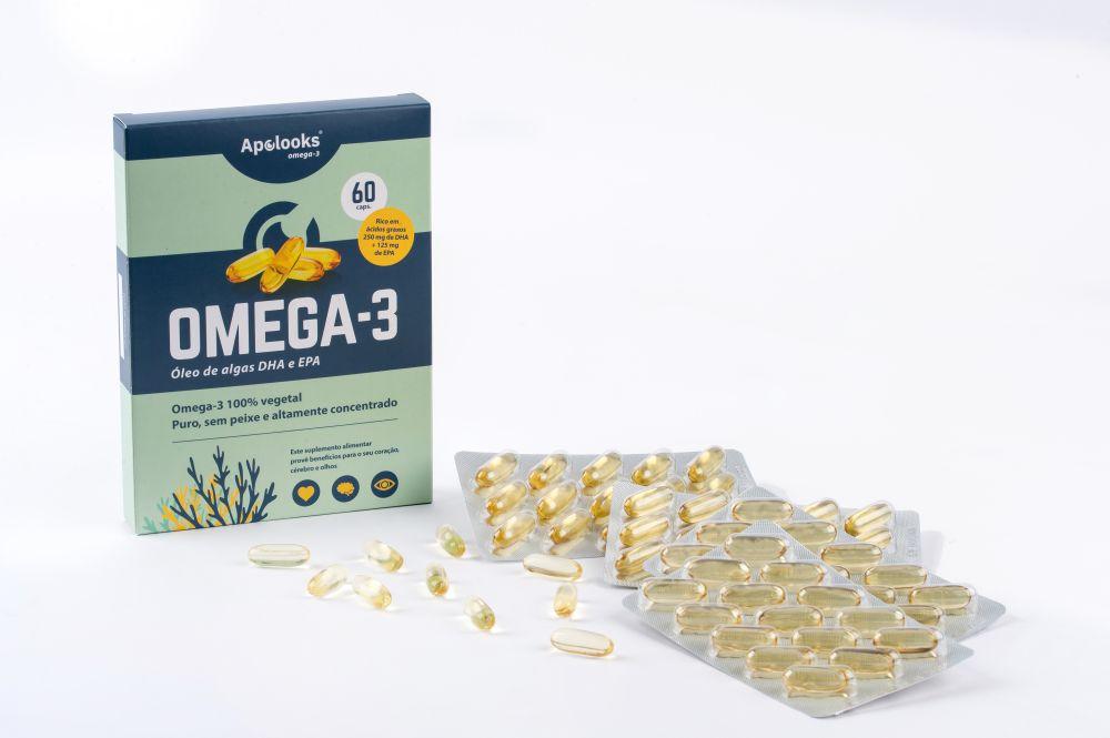 Apolooks® óleo de algas ômega-3 - para os olhos - 60 cápsulas - Vegan