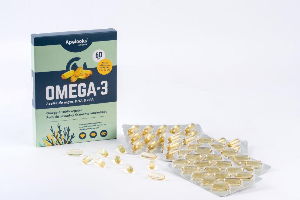Apolooks® Aceite de algas Omega-3 - para los ojos - 60 cápsulas - Vegano