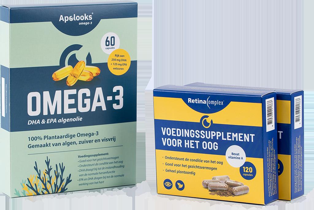 Bundelkortingen - Retinacomplex® & Omega-3 algenolie