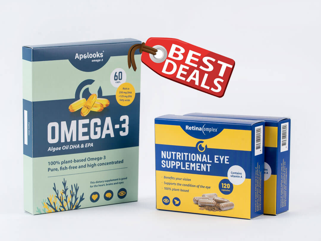 Bundle Discounts - Omega-3 Algae oil & Retinacomplex